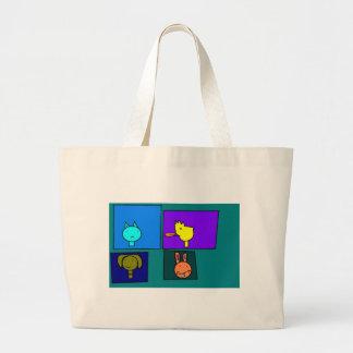 Bichinhos of esteem large tote bag