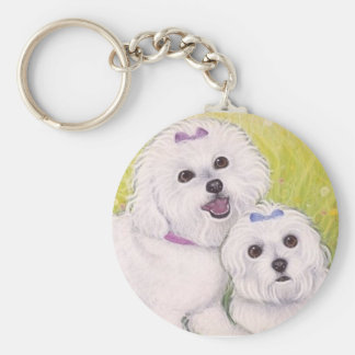 Bichon Babies key ring