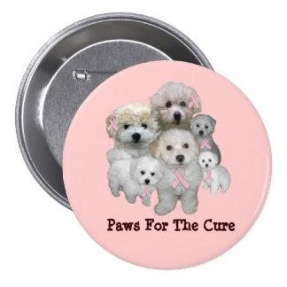 Bichon Breast Cancer Button