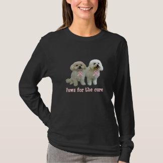 Bichon  Breast Cancer Ladies Shirt
