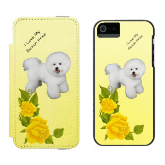 Bichon Frise and Yellow Roses Incipio Watson™ iPhone 5 Wallet Case