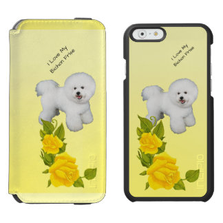 Bichon Frise and Yellow Roses Incipio Watson™ iPhone 6 Wallet Case