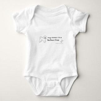 bichon frise baby bodysuit