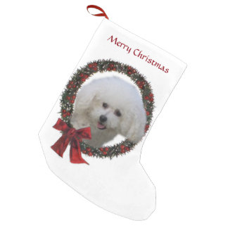 Bichon Frise Christmas Small Christmas Stocking