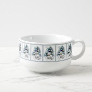 Bichon Frise Christmas Soup Mug