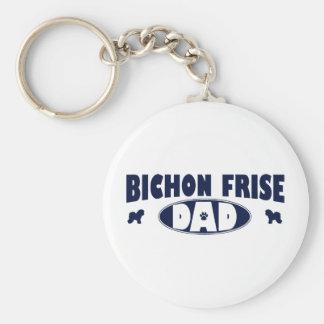 Bichon Frise Dad Key Ring