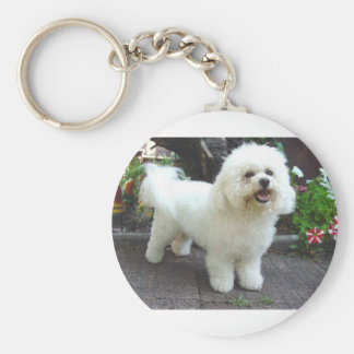 Bichon Frisé Dog Key Ring