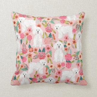 Bichon Frise floral dog pillow