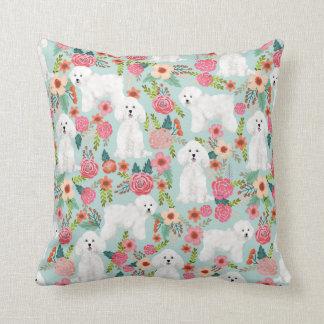 Bichon Frise Floral pillow