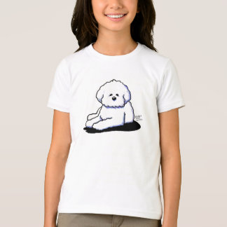 Bichon Frise Girls Ringer T-Shirt