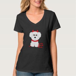 Bichon Frise Halloween Devil Dog T-Shirt