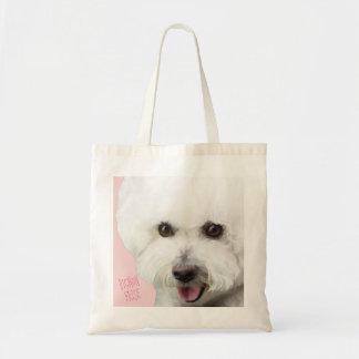 Bichon Frise Illustrated Tote Bag