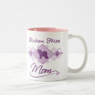Bichon Frise Mom Two-Tone Coffee Mug