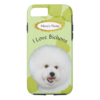 Bichon Frise on Green Leaves iPhone 8/7 Case