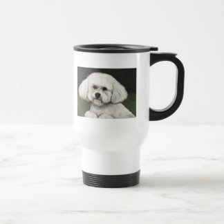 Bichon Frise Original Dog Art Travel Mug