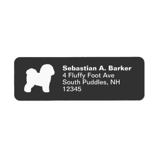 Bichon Frise Return Address Label