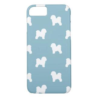 Bichon Frise Silhouettes Pattern Blue iPhone 8/7 Case