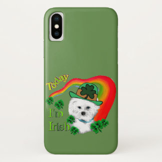 Bichon Frise St Patricks iPhone X Case