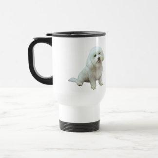 Bichon Frise - standing Travel Mug