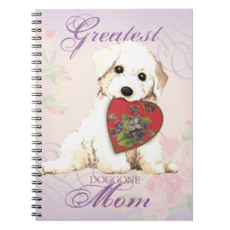 Bichon Heart Mom Notebook