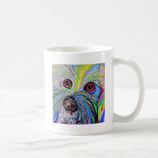 Bichon in Blue Tones Coffee Mug