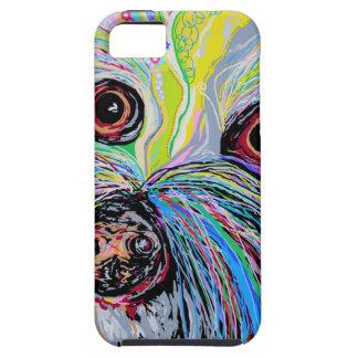 Bichon in Blue Tones iPhone 5 Case