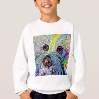 Bichon in Blue Tones Sweatshirt