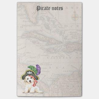 Bichon Pirate Post-it Notes