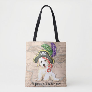 Bichon Pirate Tote Bag
