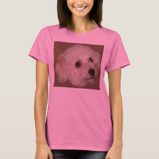Bichon Poodle on Ladies Long Sleeved T-Shirt