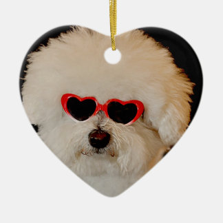 Bichons are Angels Ceramic Ornament