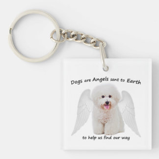 Bichons are Angels Keychain