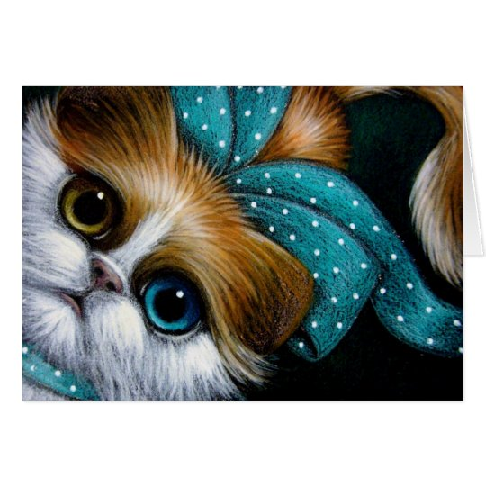 BICOLOR PERSIAN CAT YOUR GIFT Card