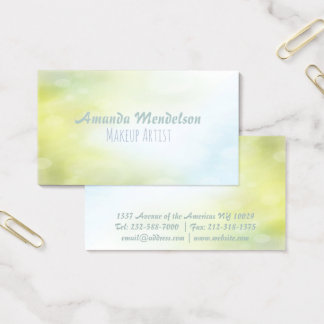 Bicolor watercolor gradient bokeh business card