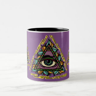 Bicolored mug Spiritual Eyes