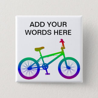 Bicycle 15 Cm Square Badge