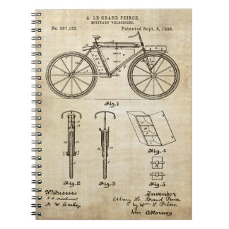 Bicycle 1896 Patent Print Notebooks