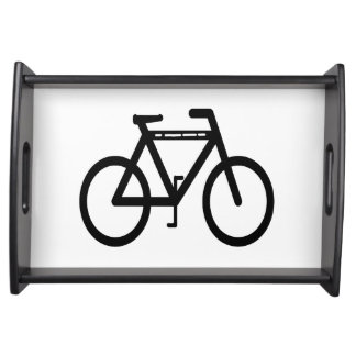 Bicycle Abstract Serving Tray