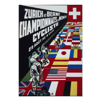 Bicycle Advertising Vintage Zurich Championship Poster