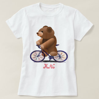 Bicycle and Teddy Bear Print T-Shirt