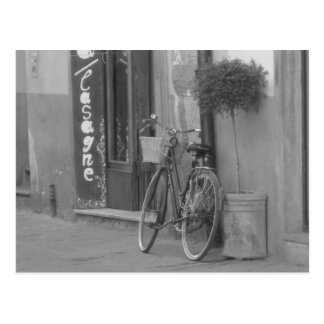 bicycle at rest, italy. postcard
