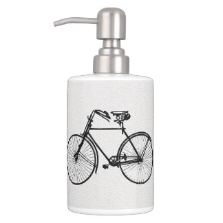bicycle bike bath Set black white