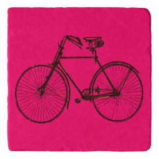 bicycle bike Pink brown trivet