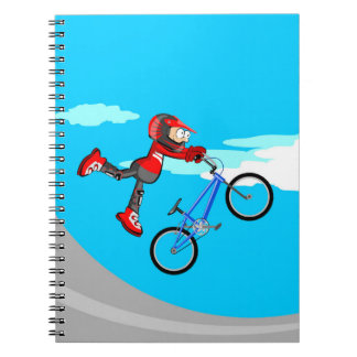 Bicycle BMX ability and skill in the air Notebook