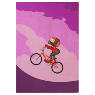 Bicycle BMX giving pedal to the life intrepidly Wood Poster