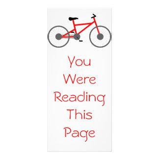 Bicycle Bookmark Template Customized Rack Card