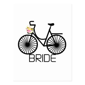 Bicycle Bride Tshirts and Gifts Post Cards
