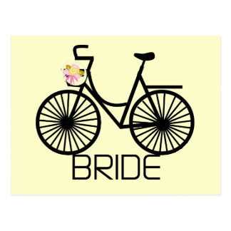 Bicycle Bride Tshirts and Gifts Postcard