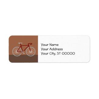 Bicycle - brown return address label