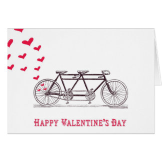 Bicycle Built for Two Valentine s Day Card